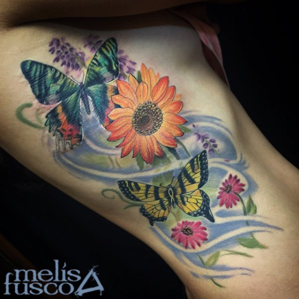 Sunflower And Butterfly Tattoos | www.imgkid.com - The ...
