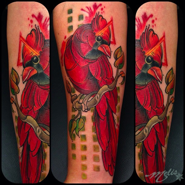 melissa-fusco-red-cardinal-sketch-watercolor-tattoo ...