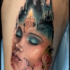 Melissa-Fusco-Denver-Colorado-Tattoo-Artist-ladyfacemorphing-into-gothic-arch-web