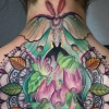 melissa fusco colorado tattoo color artist luna moth mandala autumn aspen back piece
