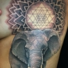 melissa fusco denver colorado tattoo artist sri yantra elephant and baby