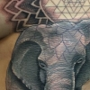melissa fusco tattoo artist denver colorado sri yantra elephant