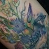 melissa fusco wild flower meadow blue jay tattoo evergreen colorado artist