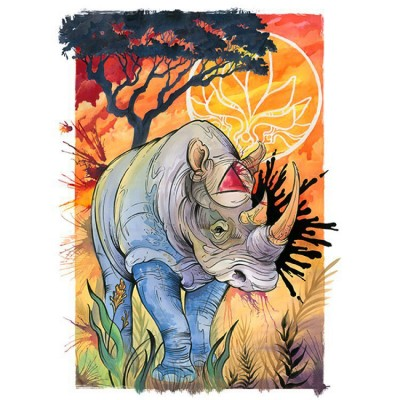 melissa fusco Save the Rhinos watercolor guache liquid acrylic painting dever colorado tall t productions